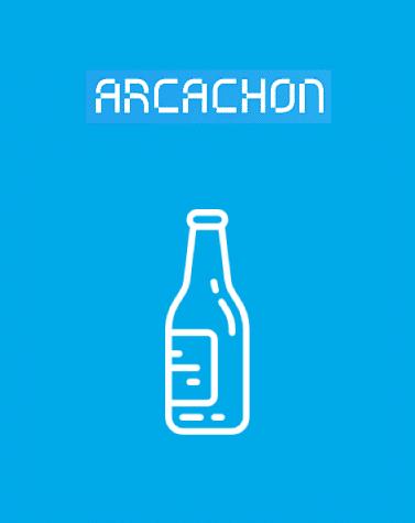Bouton bornes à verre Arcachon