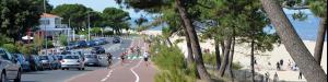 Photo plage et piste cyclable Arcachon