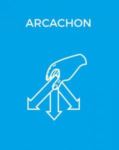 Bouton déchèterie Arcachon