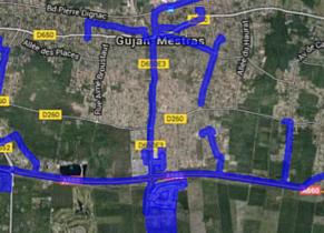 Cartographie réseau haut débit Gujan-Mestras