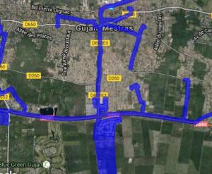 Cartographie réseaux haut débit Gujan-Mestras