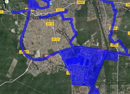 Cartographie haut débit réseaux La Teste