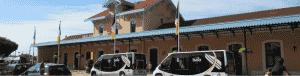 Gare d'Arcachon avec des bus Baia