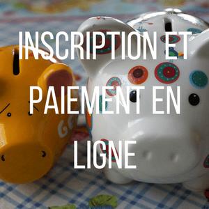 Bouton Inscription et paiement en ligne Accueil de Loisirs sans Hébergement