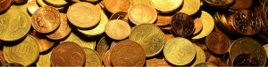 Tas de pièces d'euros