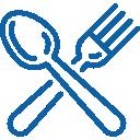Pictogramme fourchette et cuillière