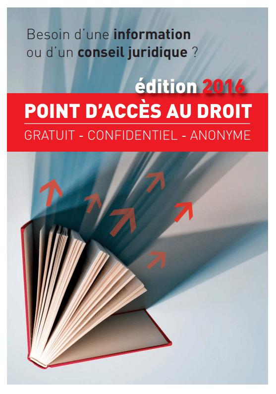 Plaquette edition 2016 Point d'accès au droit