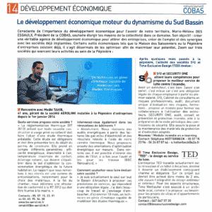 Article Aerolink entreprise pépinière d'entreprises COBAS