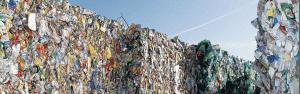 Tas de déchets compressés