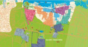 Carte localisation déchèteries et emplacements bornes à verre Gujan-Mestras