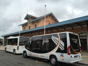 Photo gare d'Arcachon avec bus Baia