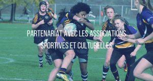 Bouton partenariat avec les associations sportives et culturelles