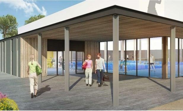 Les futurs terrains de tennis du Teich