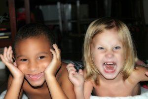 Photo portrait deux enfants